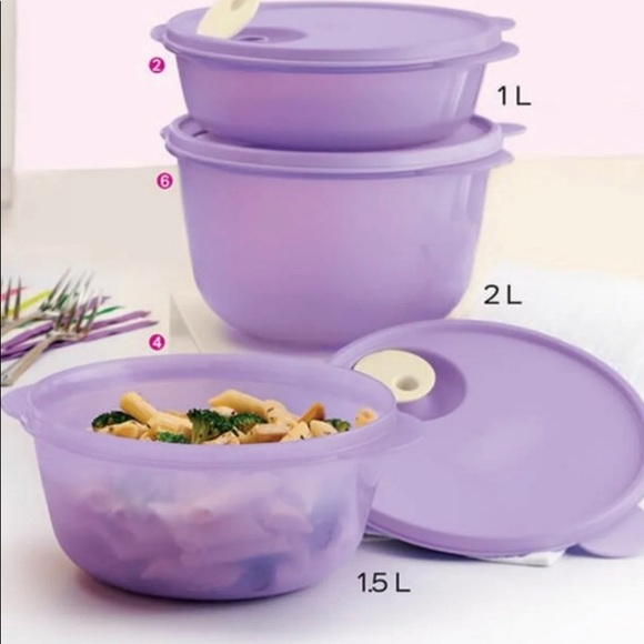 Tupperware Crystal Flash  Containers Set of 3